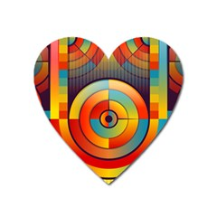 Background Colorful Abstract Heart Magnet by Nexatart
