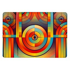 Background Colorful Abstract Samsung Galaxy Tab 10 1  P7500 Flip Case