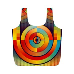 Background Colorful Abstract Full Print Recycle Bags (m)  by Nexatart