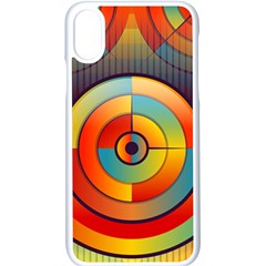 Background Colorful Abstract Apple Iphone X Seamless Case (white)