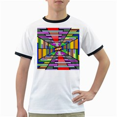 Art Vanishing Point Vortex 3d Ringer T Shirts
