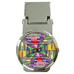 Art Vanishing Point Vortex 3d Money Clip Watches