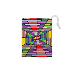 Art Vanishing Point Vortex 3d Drawstring Pouches (xs)  by Nexatart
