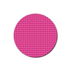 Abstract Background Card Decoration Rubber Coaster (round)