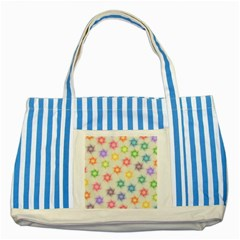 Polygon Geometric Background Star Striped Blue Tote Bag by Nexatart