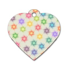 Polygon Geometric Background Star Dog Tag Heart (two Sides) by Nexatart
