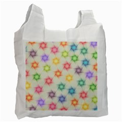 Polygon Geometric Background Star Recycle Bag (two Side)