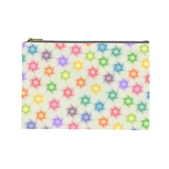 Polygon Geometric Background Star Cosmetic Bag (large)