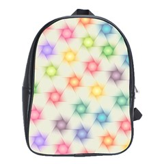 Polygon Geometric Background Star School Bag (large) by Nexatart