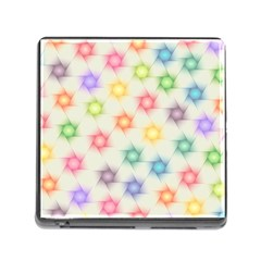Polygon Geometric Background Star Memory Card Reader (square)