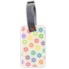 Polygon Geometric Background Star Luggage Tags (two Sides)