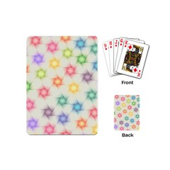 Polygon Geometric Background Star Playing Cards (mini)