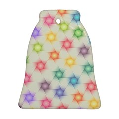 Polygon Geometric Background Star Bell Ornament (two Sides)