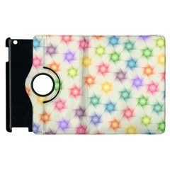Polygon Geometric Background Star Apple Ipad 2 Flip 360 Case by Nexatart