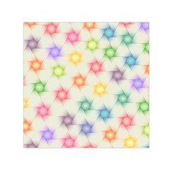 Polygon Geometric Background Star Small Satin Scarf (square)