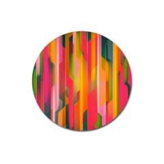 Background Abstract Colorful Magnet 3  (round)