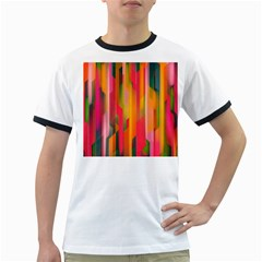 Background Abstract Colorful Ringer T Shirts