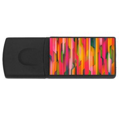 Background Abstract Colorful Rectangular Usb Flash Drive