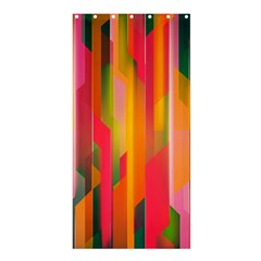 Background Abstract Colorful Shower Curtain 36  X 72  (stall)