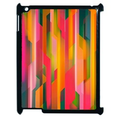 Background Abstract Colorful Apple Ipad 2 Case (black)