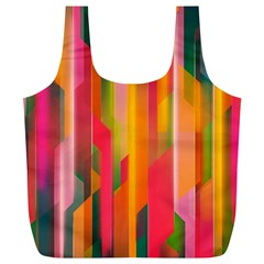 Background Abstract Colorful Full Print Recycle Bags (l)