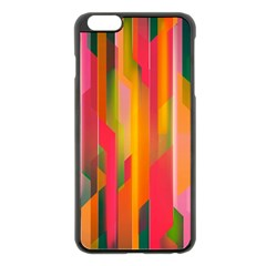 Background Abstract Colorful Apple Iphone 6 Plus/6s Plus Black Enamel Case