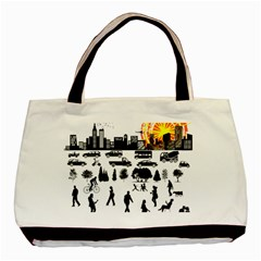 Good Morning, City Basic Tote Bag by FunnyCow
