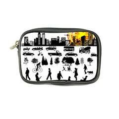 Good Morning, City Coin Purse by FunnyCow