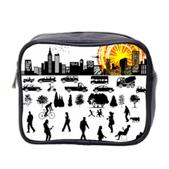 Good Morning, City Mini Toiletries Bag 2 Side by FunnyCow