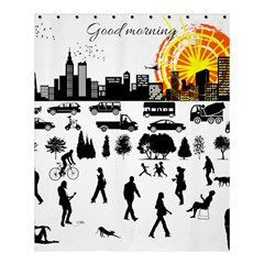 Good Morning, City Shower Curtain 60  X 72  (medium)  by FunnyCow