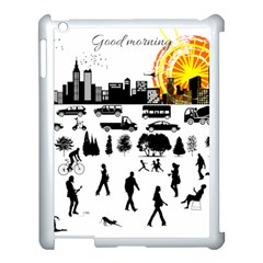 Good Morning, City Apple Ipad 3/4 Case (white) by FunnyCow