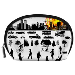 Good Morning, City Accessory Pouches (large)  by FunnyCow