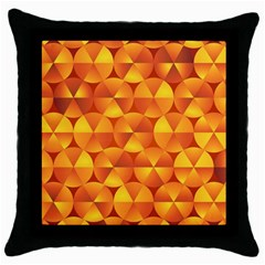 Background Triangle Circle Abstract Throw Pillow Case (black)
