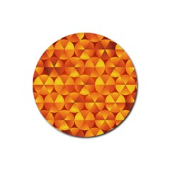 Background Triangle Circle Abstract Rubber Coaster (round)