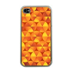 Background Triangle Circle Abstract Apple Iphone 4 Case (clear)