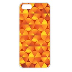 Background Triangle Circle Abstract Apple Iphone 5 Seamless Case (white)