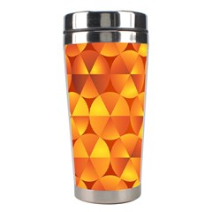 Background Triangle Circle Abstract Stainless Steel Travel Tumblers by Nexatart