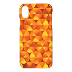 Background Triangle Circle Abstract Apple Iphone X Hardshell Case by Nexatart