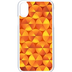 Background Triangle Circle Abstract Apple Iphone X Seamless Case (white) by Nexatart