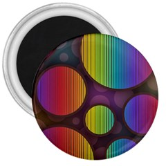Background Colorful Abstract Circle 3  Magnets