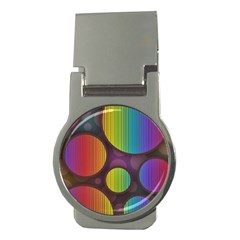 Background Colorful Abstract Circle Money Clips (round)