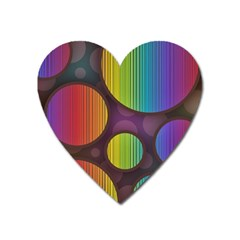 Background Colorful Abstract Circle Heart Magnet by Nexatart