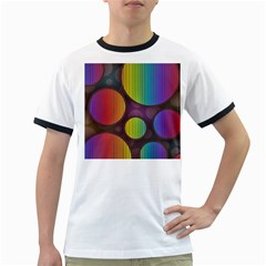 Background Colorful Abstract Circle Ringer T Shirts