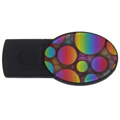 Background Colorful Abstract Circle Usb Flash Drive Oval (4 Gb)