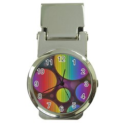 Background Colorful Abstract Circle Money Clip Watches by Nexatart