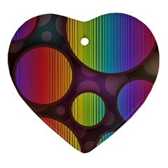 Background Colorful Abstract Circle Heart Ornament (two Sides) by Nexatart