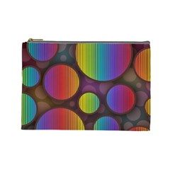 Background Colorful Abstract Circle Cosmetic Bag (large)