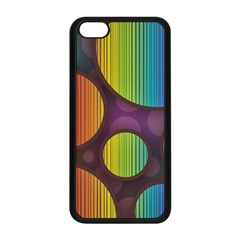 Background Colorful Abstract Circle Apple Iphone 5c Seamless Case (black)