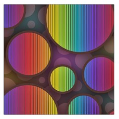 Background Colorful Abstract Circle Large Satin Scarf (square) by Nexatart