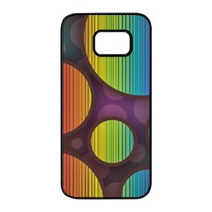 Background Colorful Abstract Circle Samsung Galaxy S7 Edge Black Seamless Case by Nexatart